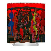 Bras On Display In Pigalle Shower Curtain