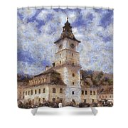 Brasov City Hall Shower Curtain