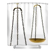 Brass Scale  Shower Curtain