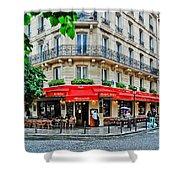 Brasserie De L'isle St. Louis Paris Shower Curtain