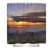 Brasstown Bald At Sunset Shower Curtain