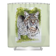 Brassy Shower Curtain