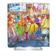 Brazil Day Colors Shower Curtain