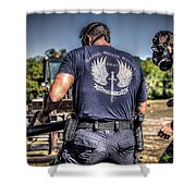 Breaching With Baton Rouge Swat Shower Curtain
