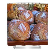 Bread At A French Market Shower Curtain
