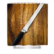 Bread Knife Shower Curtain