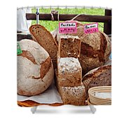 Bread On Local Market Shower Curtain