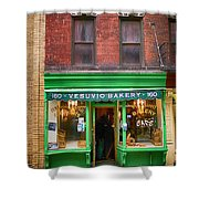 Bread Store New York City Shower Curtain by Garry Gay
