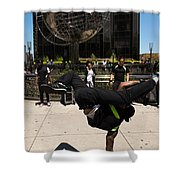 Break Dancer  Columbus Circle Shower Curtain