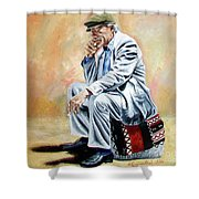 Break For Smoking - Apeadero Para Fumar Shower Curtain