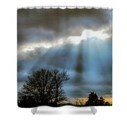 Break In The Storm Shower Curtain
