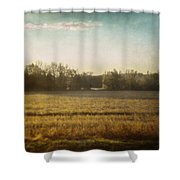 Break In The Trees Shower Curtain