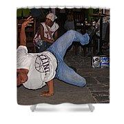 Breakdancer Shower Curtain