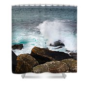 Breakers And Rocks Shower Curtain