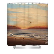 Breakfast At Five Thirty Shower Curtain
