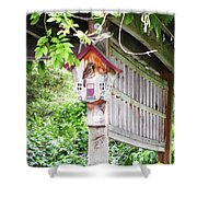 Breakfast At The Birdhouse Shower Curtain