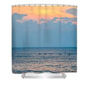Breaking Blue  Shower Curtain