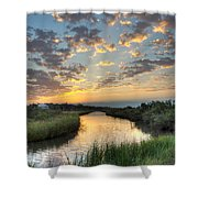 Breaking Dawn Along The Bayou Shower Curtain