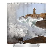 Breaking Of Waves Shower Curtain