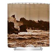 Breaking Waves-big Island Hawaii Shower Curtain