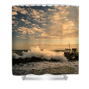 Breaking Waves Iv Shower Curtain