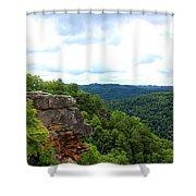 Breaks Interstate Park Virginia Kentucky Rock Valley View Overlook Shower Curtain