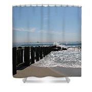 Breakwater II Shower Curtain