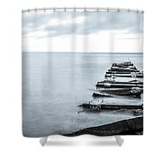 Breakwater Monochrome Shower Curtain