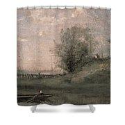 Breakwater, Normandy Shower Curtain