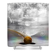 Breathing Life Into A Planet Shower Curtain