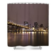 Breathing The Night Away Shower Curtain