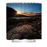 Breathless Sunrise II Shower Curtain