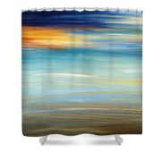 Breeze-seascapes Abstract Art Shower Curtain