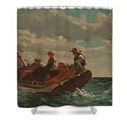 Breezing Up.a Fair Wind Shower Curtain