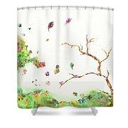 Breezy Canopy Shower Curtain