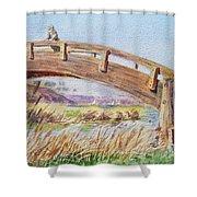 Breezy Day At The Marina Shower Curtain by Irina Sztukowski