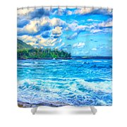 Breezy Hawaii Morning Shower Curtain