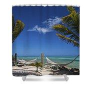 Breezy Island Life Shower Curtain by Adam Romanowicz