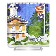 Breezy Morning At The Courthouse Shower Curtain