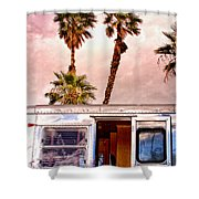 Breezy Palm Springs Shower Curtain
