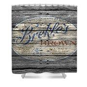 Brekles Brown Shower Curtain