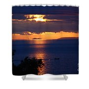Brela Sunset Croatia Shower Curtain