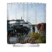 Bremerton Wa Ferry Doc Shower Curtain