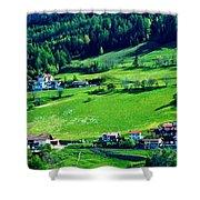 Brenner Pass Greenery Shower Curtain