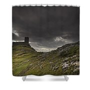 Brentor Church Dartmoor Devon Uk Shower Curtain