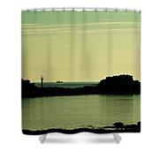 Bretagne Low Tide Shower Curtain