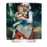 Breton Brother And Sister Shower Curtain