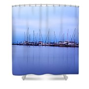 Brewer Yacht Yard At Cowesett Rhode Island Shower Curtain