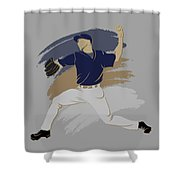 Brewers Shadow Player Shower Curtain