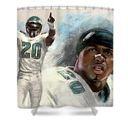 Brian Dawkins Shower Curtain by Viola El